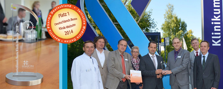 Klinikum hat Deutschlands<br /> Beste Klinik-Website 2014